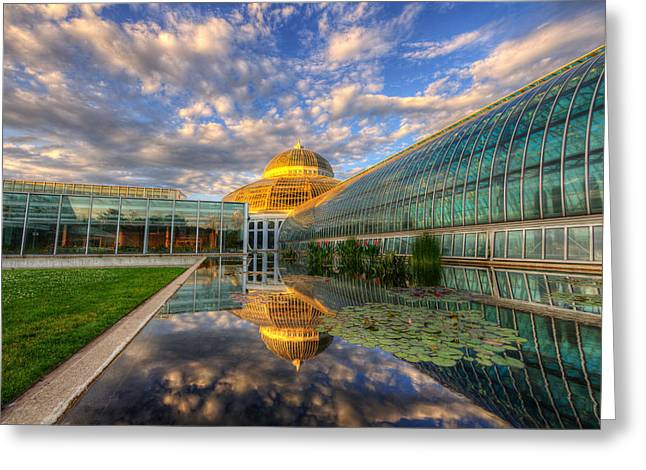 Moran Greeting Cards - Marjorie Mcneely Conservatory Evening  Greeting Card by Wayne Moran
