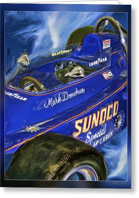 Recently Sold -  - Indy Car Greeting Cards - Mark Donohue 1972 Indy 500 Winning Car Greeting Card by Blake Richards