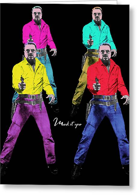 Samuel Digital Art Greeting Cards - Mark it zero pop art set of 4 Greeting Card by Filippo B