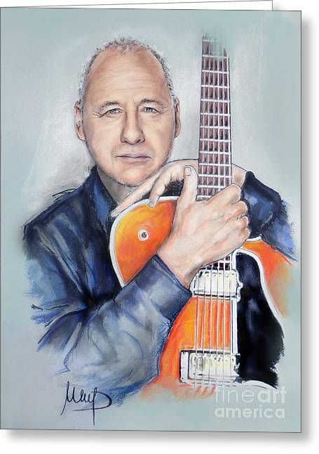 Musician Pastels Greeting Cards - Mark Knopfler Greeting Card by Melanie D