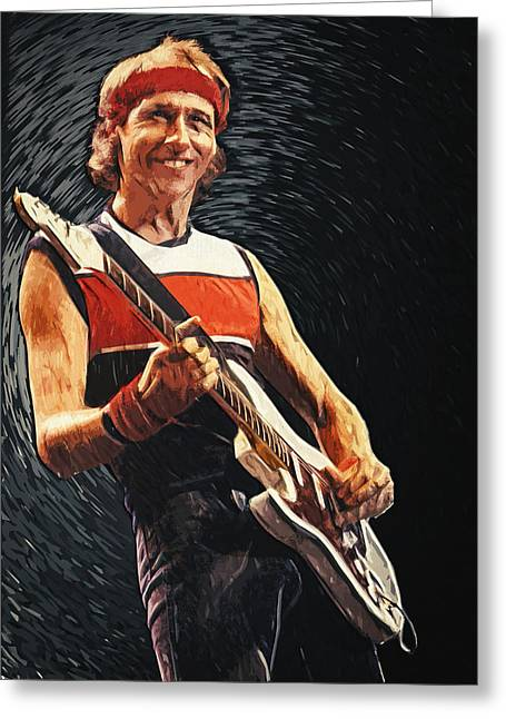 Guitar Stings Greeting Cards - Mark Knopfler Greeting Card by Taylan Soyturk