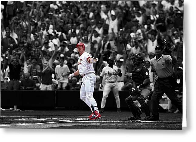 Mark Mcgwire Greeting Cards - Mark McGwire Greeting Card by Brian Reaves