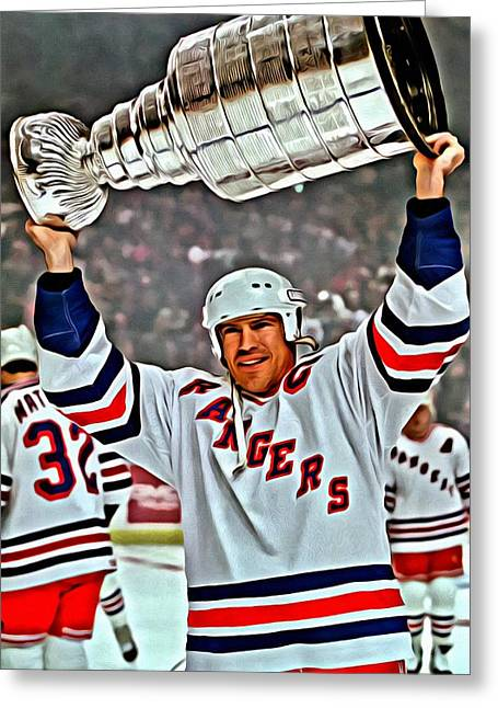Best Sellers -  - Ice-skating Greeting Cards - Mark Messier Greeting Card by Florian Rodarte
