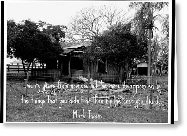 Mark Twain Quote Greeting Cards - Mark Twain Greeting Card by Bruce Kessler