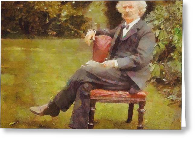Samuel Digital Art Greeting Cards - Mark Twain Greeting Card by Dan Sproul