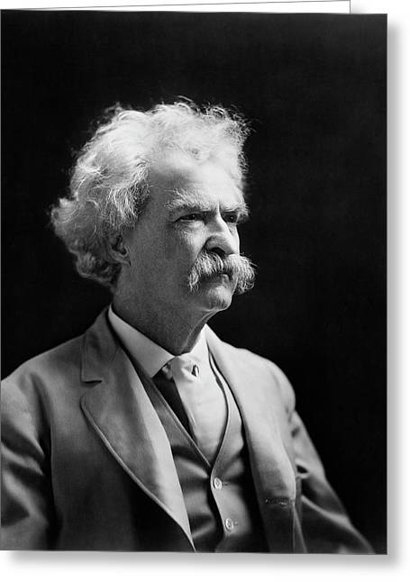 Mark Twain Greeting Card by Library Of Congress