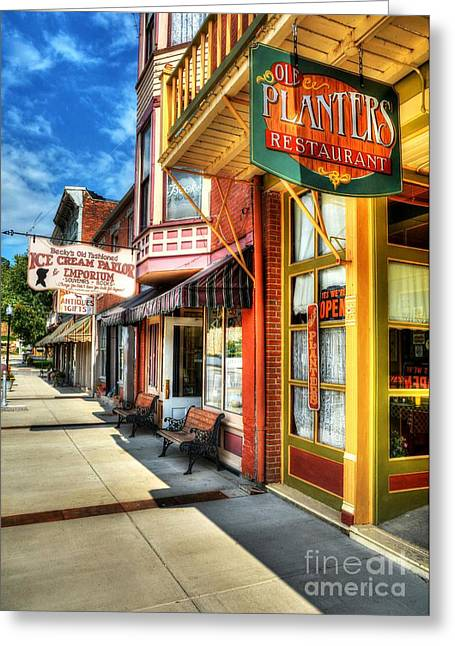 Becky Greeting Cards - Mark Twains Town Greeting Card by Mel Steinhauer