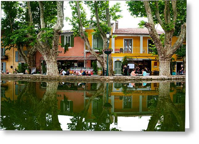 Vaucluse Greeting Cards - Market At The Waterfront, Place De Greeting Card by Panoramic Images