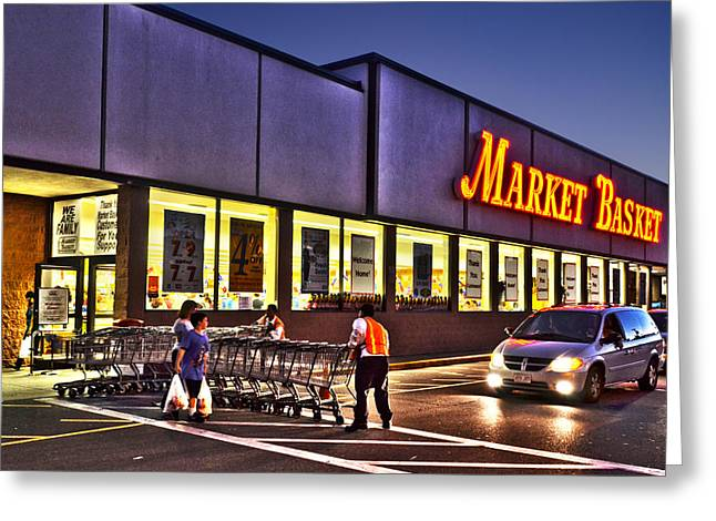 Boston Ma Greeting Cards - Market Basket Somerville MA Greeting Card by Toby McGuire