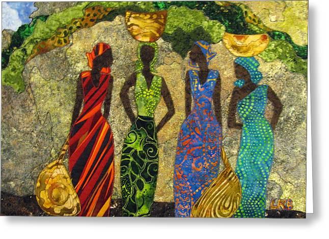 Market Day #1 Greeting Card by Lynda K Boardman
