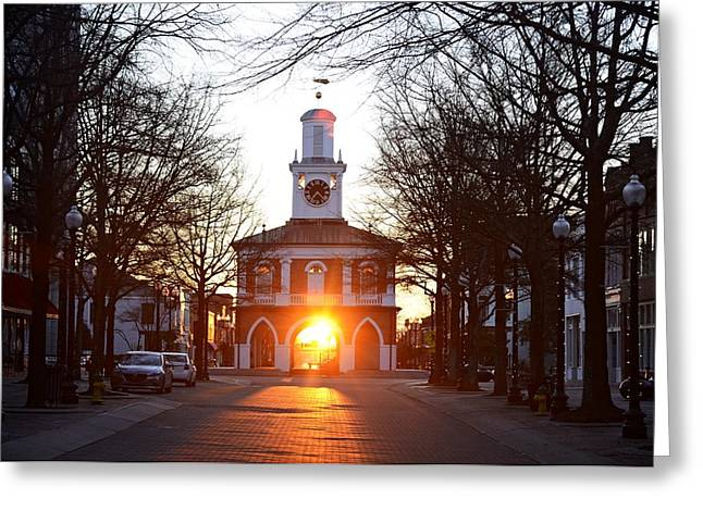 Observer Greeting Cards - Market House Sunrise - Fayetteville - January 28 2015 Greeting Card by Matt Plyler
