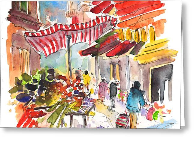 Market In Palermo 04 Greeting Card by Miki De Goodaboom