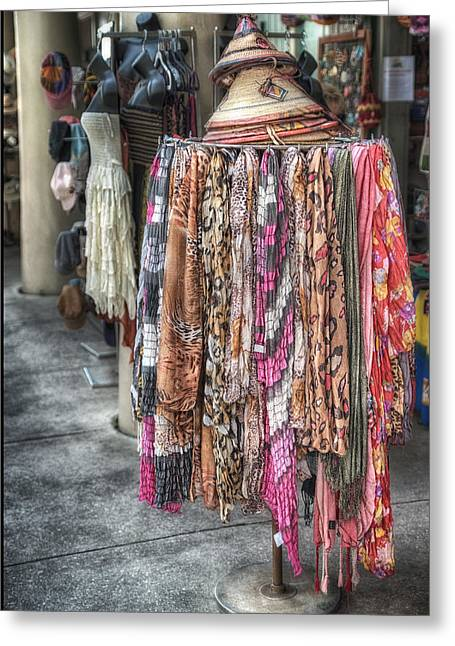 Apparel Greeting Cards - Market Scarves Greeting Card by Brenda Bryant