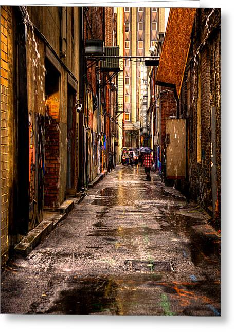 David Patterson Greeting Cards - Market Square Alleyway - Knoxville Tennessee Greeting Card by David Patterson
