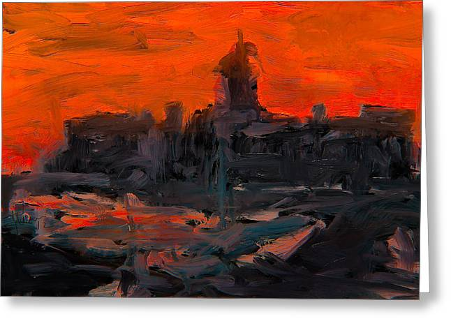 Kingston Mixed Media Greeting Cards - Market Square at Sunrise Greeting Card by Jim Vance