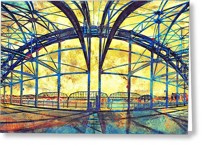 Tennessee River Greeting Cards - Market Street Bridge Arch Greeting Card by Steven Llorca