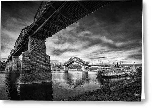 Chattanooga Greeting Cards - Market Street Bridge Opening Greeting Card by Steven Llorca