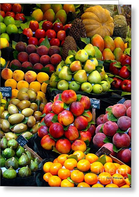 Market Time Greeting Card by Sue Melvin