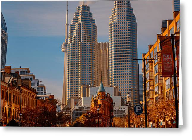 City Art Greeting Cards - Market Town Toronto Greeting Card by James Canning