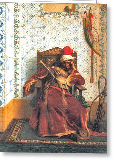 Gerome Greeting Cards - Markos Botsaris Greeting Card by Jean Leon Gerome