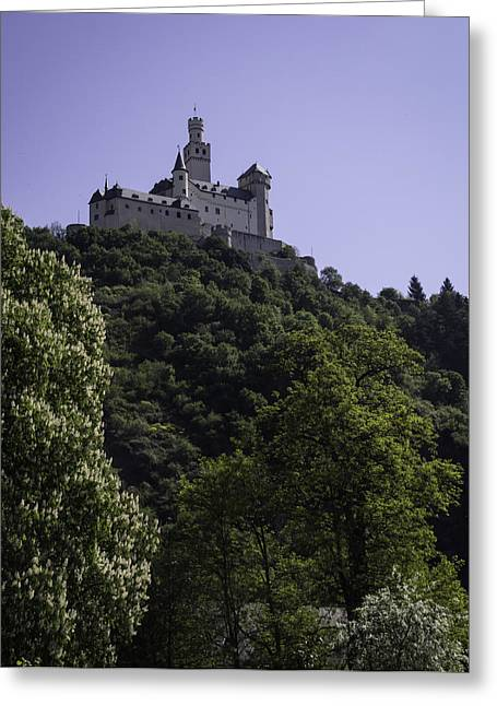 Wallflower Greeting Cards - Marksburg Castle 10 Greeting Card by Teresa Mucha