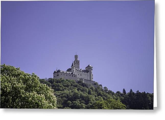 Wallflower Greeting Cards - Marksburg Castle 12 Greeting Card by Teresa Mucha