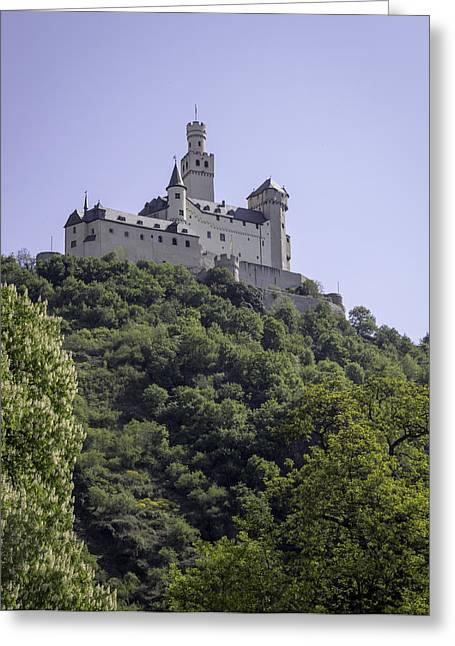 Wallflower Greeting Cards - Marksburg Castle 14 Greeting Card by Teresa Mucha