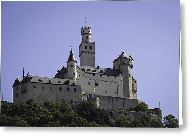 Defensive Greeting Cards - Marksburg Castle 18 Greeting Card by Teresa Mucha