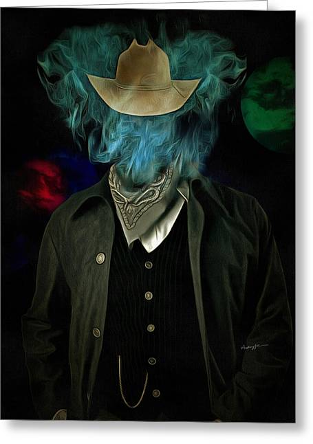 Smoker Greeting Cards - Marlboro Man Greeting Card by Anthony Caruso