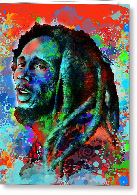 Dreads Greeting Cards - Marley 10 Greeting Card by MB Art factory