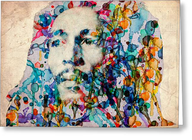 Dreads Greeting Cards - Marley 2 Greeting Card by MB Art factory