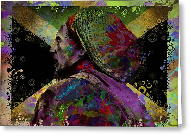 Dreads Greeting Cards - Marley 9 Greeting Card by MB Art factory