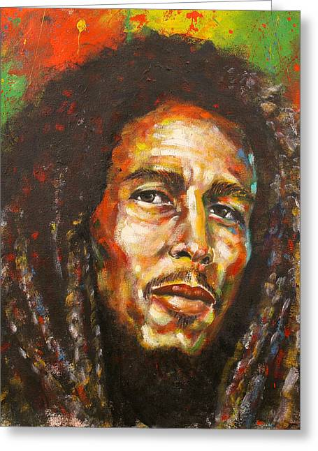 Bob Marley Artwork Greeting Cards - Marley Greeting Card by Cornelius Carter