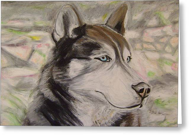 Husky Pastels Greeting Cards - Marley Greeting Card by Therese Legere