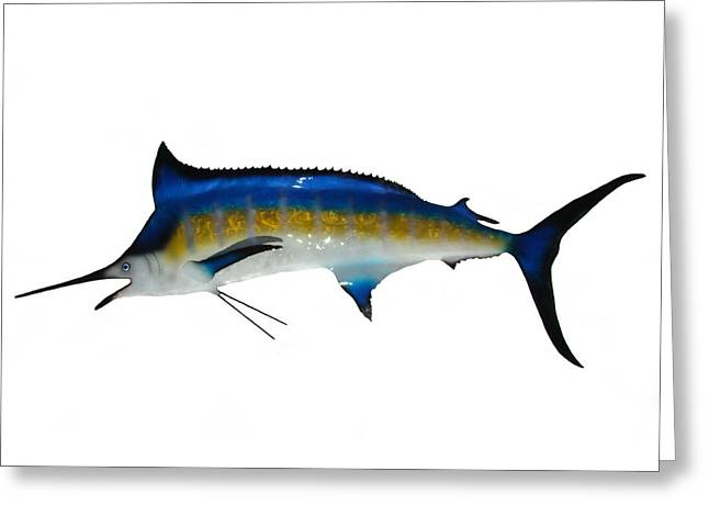 Garden Sculptures Greeting Cards - Marlin Greeting Card by Diane Snider