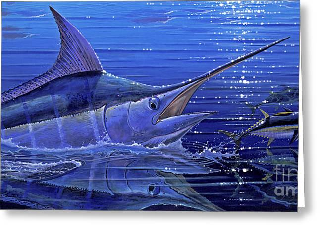 Pirates Paintings Greeting Cards - Marlin mirror Off0022 Greeting Card by Carey Chen
