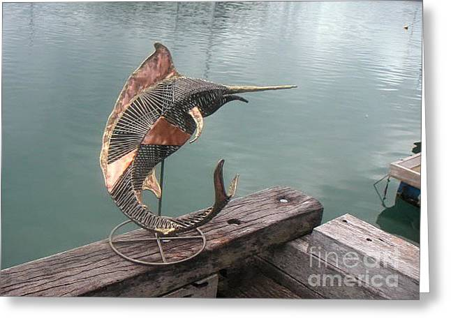 Fish Sculptures Greeting Cards - Marlin Greeting Card by Shane Bower