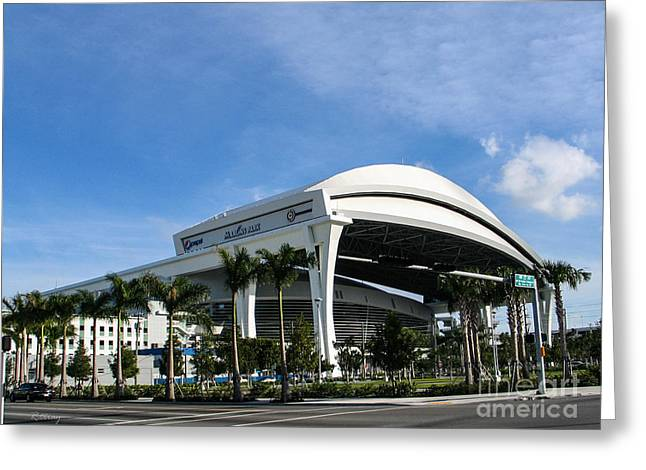 Marlins Park Stadium Miami 16 Greeting Card by Rene Triay Photography