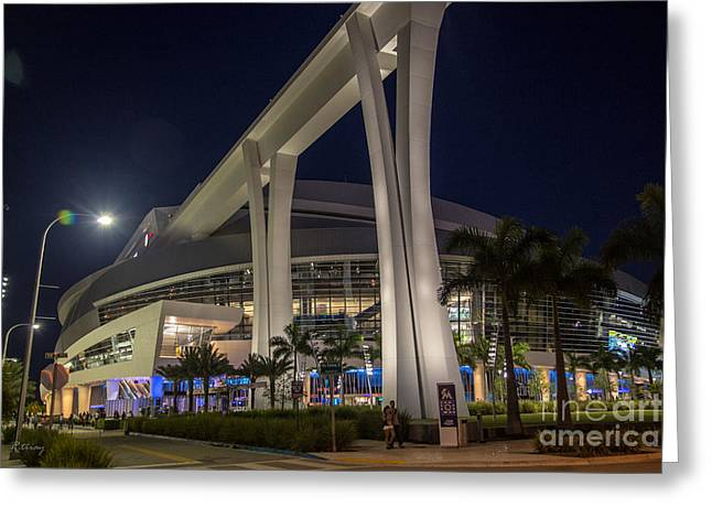 Baseball Bat Greeting Cards - Marlins Park Stadium Miami 2 Greeting Card by Rene Triay Photography