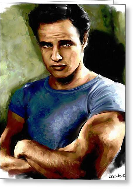Allen Glass Greeting Cards - Marlon Brando Greeting Card by Allen Glass