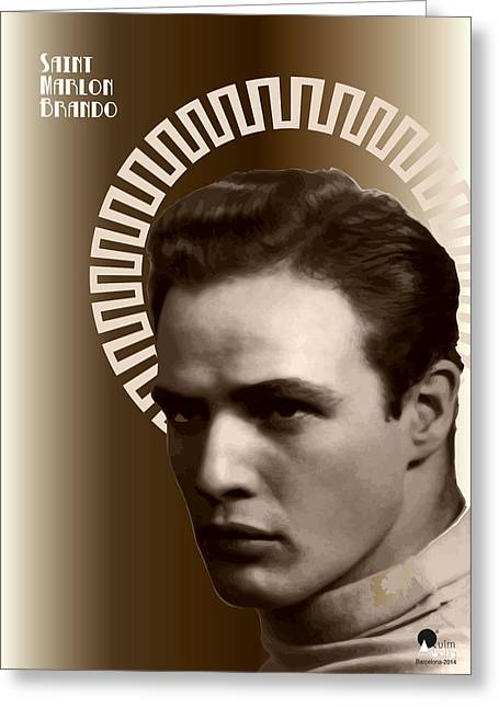 Marlon Brando Poster Greeting Cards - Marlon Brando Greeting Card by Joaquin Abella