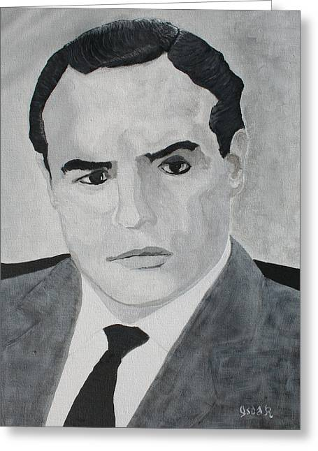 Marlon Brando Greeting Card by Oscar Penalber