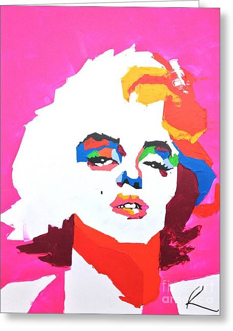Marlyn Greeting Cards - Marlyn Monroe Greeting Card by Edgar Rafael