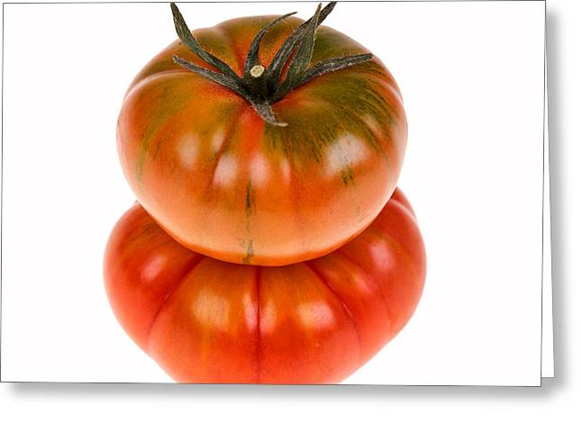 Heirlooms Greeting Cards - Marmande tomatoes Greeting Card by Jane Rix