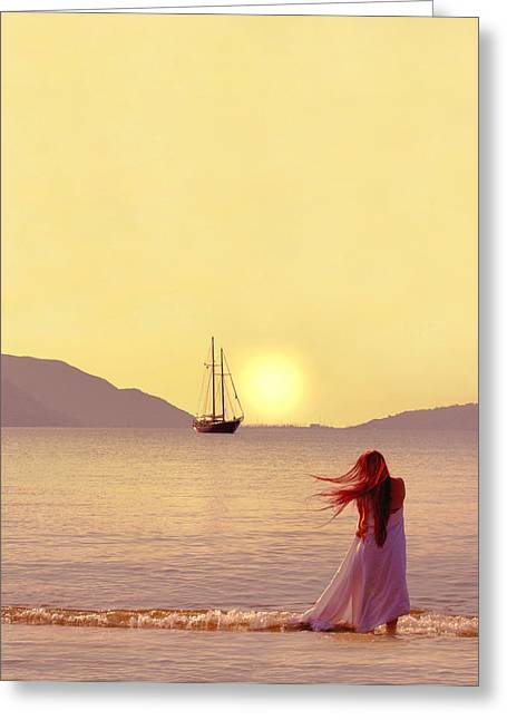 Ocean Shore Greeting Cards - Marmaris Greeting Card by Wojciech Zwolinski