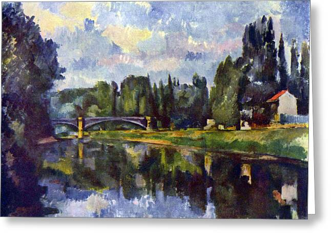 John Peter Greeting Cards - Marne Shore by Cezanne Greeting Card by John Peter