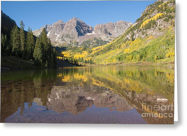 White River Greeting Cards - Maroon Bells in Autumn Greeting Card by Juli Scalzi