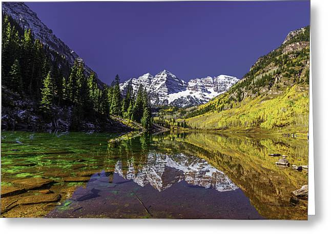 Dumb And Dumber Greeting Cards - Maroon Bells Reflection Greeting Card by Chris Locke