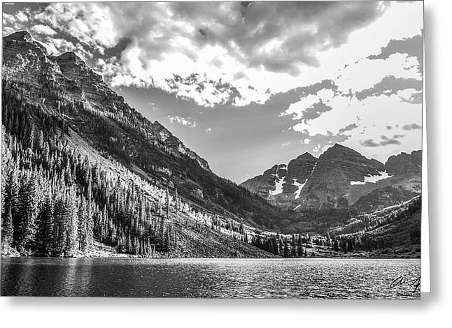 Boonies Greeting Cards - Maroon Lake Greeting Card by Aaron Spong