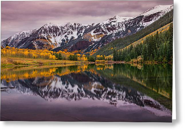 Colorado Mountain Greeting Cards Greeting Cards - Maroon Lake Greeting Card by Darren  White